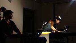 Multifungi, sound and live animation performance