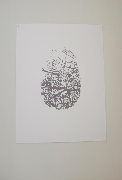 Huellas / Fingerprints. Paulina Velázquez Solís. Digital drawing. 2017.