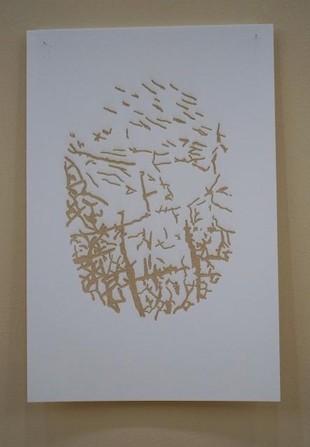 Huellas /Traces, laser prints on water color paper. 2019